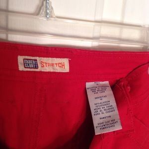 Faded Glory Shorts - SHORT RED FADED GLORY SIZE 12